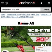 Baumr-AG 20V 2in1 Cordless Pole Tool $119 Deal Image