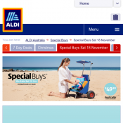ALDI Special Buys 18 November - Beach Gear  Deal Image