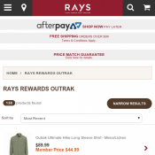 Rays Rewards Outrak Discounted Prices For Members  Deal Image