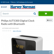 Philips AJT5300 Digital Clock Radio with Bluetooth $49 Deal Image