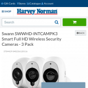 Swann Smart Full HD Wireless Security Cameras - 3 Pack $513 Deal Image