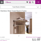 Stainless Steel Towel Rack 6 Tubes $22.99 Deal Image