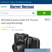 "NX Dash Camera with 2.4"" Screen and Loop Recording $25 Deal Image"