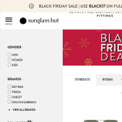 Black Friday Deals @Sunglasshut 50% OFF Selected Styles Deal Image