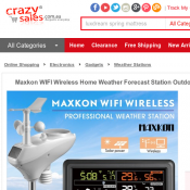 Maxkon WIFI Home Weather Forecast Station $219.95 Deal Image
