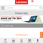 Lenovo Festive Sale - Save up to 35% on selected PCs Deal Image