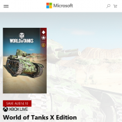 Microsoft - [Xbox One X] World of Tanks X Edition - FREE (Was $14.10) Deal Image