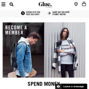 Download the app and get $10 voucher at Glue Store  Deal Image