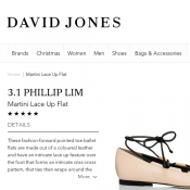 Martini Lace Up Flat $99 @ David Jones Deal Image