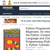 FREE 5 eBooks - Python Programming for Beginners; Command Line Kung Fu; Linux Administration Kindle Deal Image