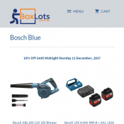 Bosch Blue Tools 10% Off Until Midnight Monday 11 December Deal Image