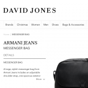 Armani Jeans Messenger Bag from David Jones Deal Image