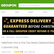 HelloFresh: First or First Two Weeks Delivered Meal Kits from $19.90 (Up to 69% Off) - New Customers Deal Image