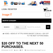 $20 OFF with coupon to the next 50 purchases  Deal Image
