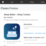 Free IOS APP Sleep Better With Runtastic (RRP $4.6) Deal Image