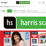 Boxing Day Sale @Harris Scarfe Catalogue Christmas 2017 Deal Image