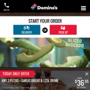 Domino's - 3 Pizzas, Garlic Bread & 1.25L Drink $32.95 Delivered (code)! 2 Days Only Deal Image