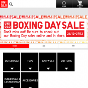 Boxing Day 2017 Sale: Up to 70% Off Storewide + Extra $10 Off @Uniqlo Deal Image