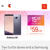 Telstra Samsung S8 $59/mth + 15GB per Month + Unlimited Calls in AU  Deal Image