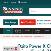 Bunnings - Ozito Power X Change 18V Compact Drill Driver Kit with 71 Accessories $69  Deal Image