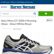 Asics Mens Running Shoes $39 in Big Buy stores and Online @Harvey Norman Deal Image