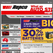 Repco End of Year Big Sale 30% OFF Batteries and Engine Oil (3 days only)