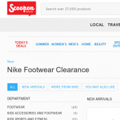 Nike Footwear Clearance Starting from $54.99 @Scoopon Deal Image