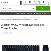 Logitech MK220 Wireless Keyboard and Mouse Combo $15 @Domayne Deal Image