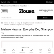 Melanie Newman Everyday Dog Shampoo 1L $32.24 Deal Image
