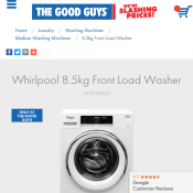 Whirlpool 8.5kg Front Load Washer $779 (was $1149) @The Good Guys