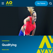FREE Entry to Melbourne Park for Men's & Women's Singles Qualifying Runs Deal Image