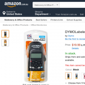 DYMO Labeler  for $19.90 free delivery @ Amazon Deal Image