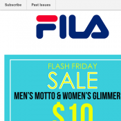 Men's Motto Tee & Women's Glimmer Tee $10 @ FILA