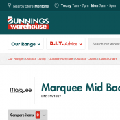 Marquee Mid Back Folding Camping Chair $5 @Bunnings Deal Image
