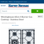 Westinghouse 60cm 4 Burner Gas Cooktop - Stainless Steel FOR $396 Deal Image