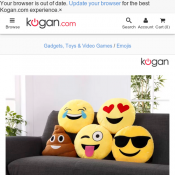 Set of 5 Emoji Pillows for $19.90 @ Kogan Deal Image