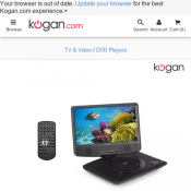 "Kogan 9"" Portable DVD Player $59 with Free Shipping Deal Image"