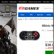 8Bitdo NES30 PRO Bluetooth Controller $36 (RRP $69.95) @EB Games Deal Image