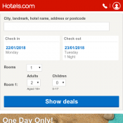 Up to 50% Off Hotel Booking + Extra 8% Off with code @Hotels.com Deal Image