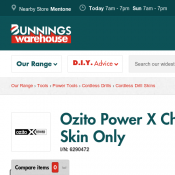 Ozito Power X Change 18V Impact Driver $49 - Skin Only Deal Image