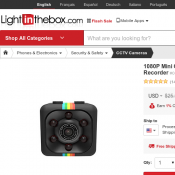 1080P Mini Camera SQ11 HD Camcorder Night Vision Sports DV Video Recorder $11.15 (RRP $25.98)  Deal Image