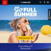 Free Double Cheeseburger with any Purchase on mymacca's App @Mc Donald's Deal Image