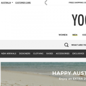 Australia Day Special: Extra 20% Off Everything + Free Shipping (code) @Yoox Deal Image