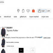 SUPERDRY Polar Sports Puffer was $179.95 now $125.96 Deal Image