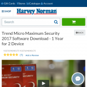 Trend Micro Maximum Security 2017 Software Download - 1 Year for 2 Device Deal Image