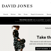 Free Express Delivery Over $100 Purchases @David Jones Deal Image
