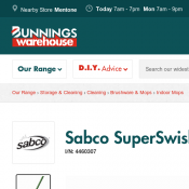 Sabco SuperSwish With Microfingers Mop $15.90 @Bunnings Deal Image