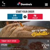 Oven Baked Sandwiches $5.95, King Size Pizza 40cm $19.95 with codes @Dominos Deal Image