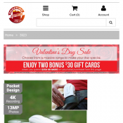 Valentine's Day Sale: $60 Visa Cash Card over $350 Spend 2 x $30 Gift Cards @Shopping Express Deal Image