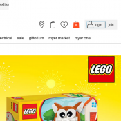 FREE Lunar New Year LEGO® Dog (worth $14.99) - If you spend minimum $88 on Lego Products @Myer Deal Image